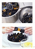 The correct way to eat mussels