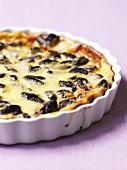 Prune and custard tart