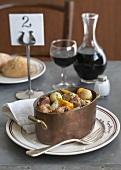 Navarin printanier (Lamb stew with spring vegetables, France)