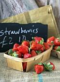 Fresh strawberries in punnets