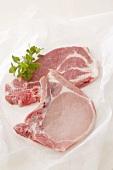 Pork chop and pork neck