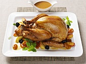 Roast turkey with dates