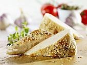 Sesame flatbread