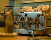 Espresso machine in a cafeteria