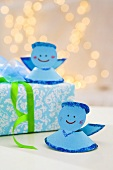 Paper angels and Christmas gift