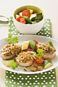 Pork fillet with almond topping