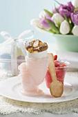 Pudding baked in eggshell for Easter