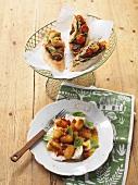 Ciabatta mit Olivencreme, Artischocken und Tomaten & Gnocchisalat mit Mozzarella
