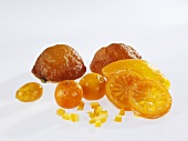Candied oranges and mandarin oranges, candied orange peel
