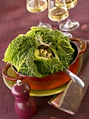 Savoy cabbage stuffed with mince