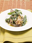 Fried liver with sage butter