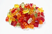 Heap of assorted Gummi bears