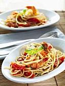 Spaghetti ai gamberi (Spaghetti with prawns, Italy)