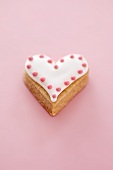 Iced heart-shaped biscuit