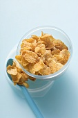 Cornflakes in food storage box