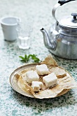 Coconut marshmallows to serve with tea