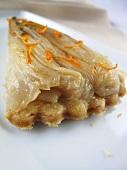 Chicory tart with orange zest
