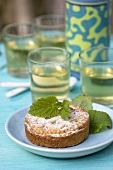 Linzer tart and nettle tea