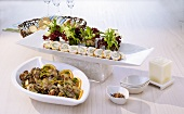 Mushroom dishes: with orange gremolata and involtini