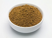 Mulled wine spices in small bowl