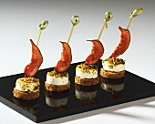 Goat's cheese and fig appetisers