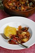 Ratatouille with polenta
