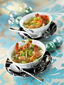 Bean and gamba soup (Christmas)
