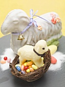 Sweet Easter lamb and Easter sweets