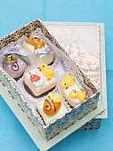 Assorted petit fours (Easter gift)