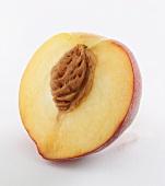 Half a peach with stone