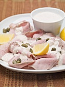 Vitello tonnato (Veal with tuna sauce, Italy)