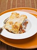 Lasagne alla bolognese (Nudelauflauf mit Fleischsauce, Italien)