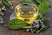 A cup of thyme and lungwort tea