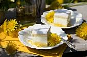 Lemon cream slices