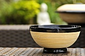 Asian bamboo bowl