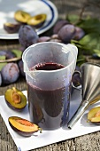 Home-made plum juice