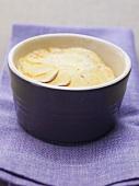 Potato gratin in small dish