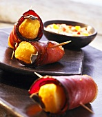 Bacon-wrapped potato croquettes