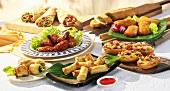 Assorted snacks (frozen food)