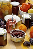 Preserves and pickles in jars
