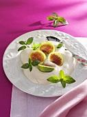 Fresh figs with sherry foam