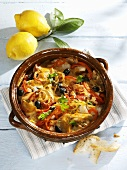 Fish stew with peppers and olives (Spain)