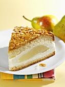Pear 'bee sting' cake (Bienenstich)