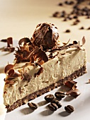 Piece of cappuccino cake