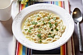 Tripe soup with parsley