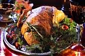 Traditional Christmas roast duck
