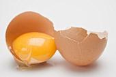 Egg, cracked open
