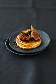 Fig puff pastry tart with orange caramel and thyme