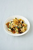 Orecchiette with cauliflower, tomatoes, breadcrumbs & thyme