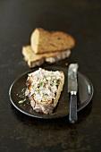 Duck rillette on crusty bread